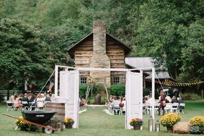 Rustic Cabin Wedding Ceremony at Leatherwood Mountains Resort