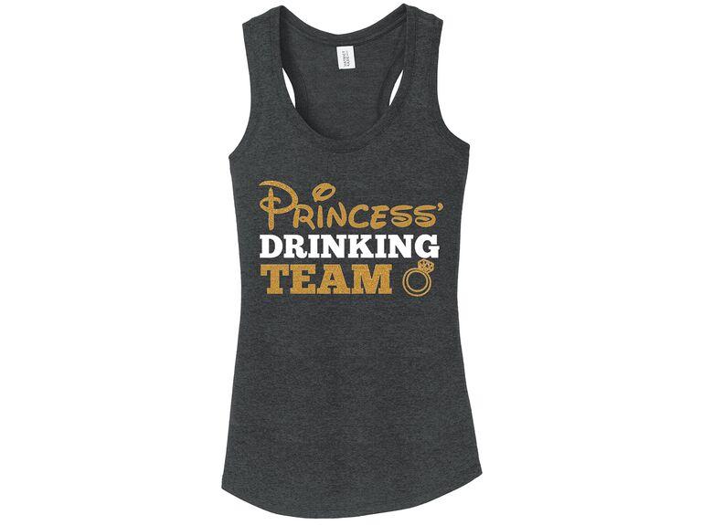 Princess Drinking Team Disney tanks bachelorette party