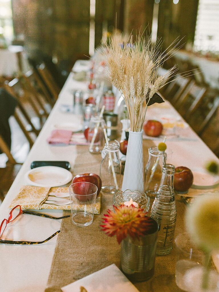 fall non floral centerpiece ideas for your wedding - Centerpiece Ideas