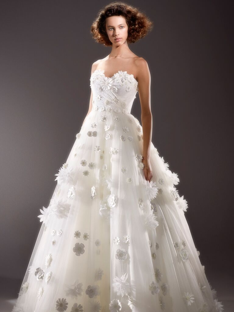 Viktor & Rolf Spring 2020 Bridal Collection floral appliqué bridal ball gown wedding dress