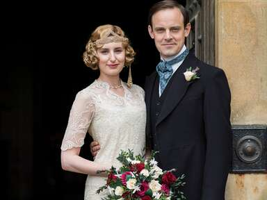 We're Obsessed With  Lady Edith's Wedding Look From The Downton Abbey Finale