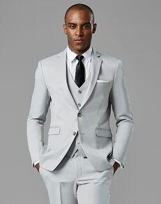 Generation Tux Cement Gray Notch Lapel Suit Gray Tuxedo