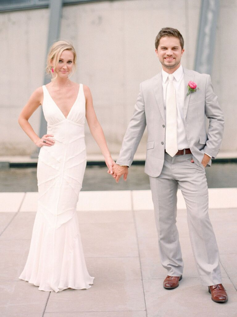 Plunging V Neckline Wedding Dresses From Real Brides