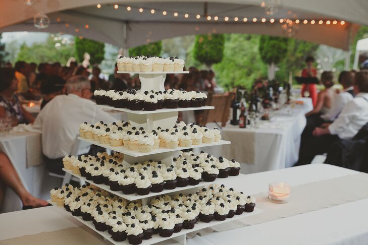 Delicious Square Cupcake Tower