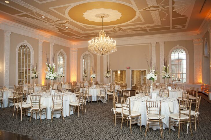 The couple loved the timeless elegance of The Crystal Ballroom in the The Berkeley Oceanfront Hotel.
