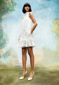 Viktor&Rolf Mariage WISTERIA GARDEN V BACK MINI DRESS A-Line Wedding Dress