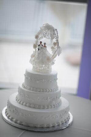 Traditional Three-Tier Wedding Cake