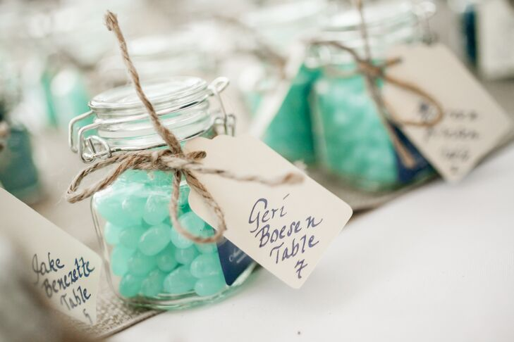 Jelly Bean Escort Cards And Wedding Favors
