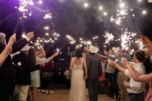 Sparkler Exit From Sisterdale Dancehall Wedding