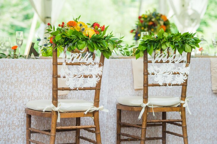 Bride and Groom Reception Chairs