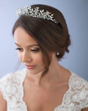 Dareth Colburn Delicate Crystal Crown (TI-3279) Silver Tiara