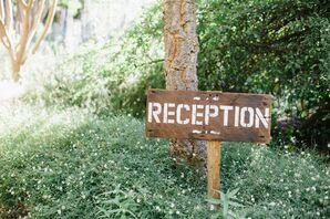 "DIY Wooden ""Reception"" Sign"