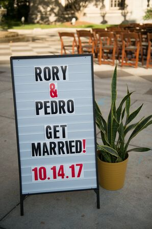 Modern Wedding Welcome Sign