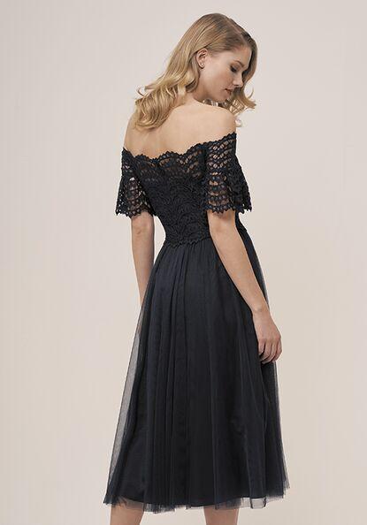 Midnight Blue Tea Length Dresses