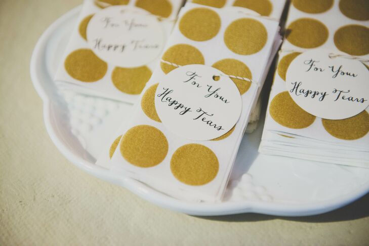 'For Your Happy Tears' Napkin Tag