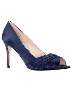 Nina Bridal Rhiyana_New Navy Satin Black, Green, Ivory, Pink, Purple Shoe