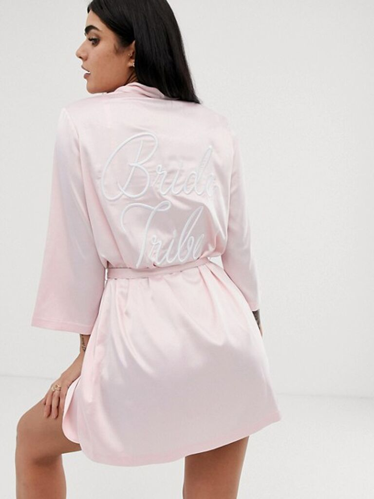 Bride Tribe blush bridesmaid robe