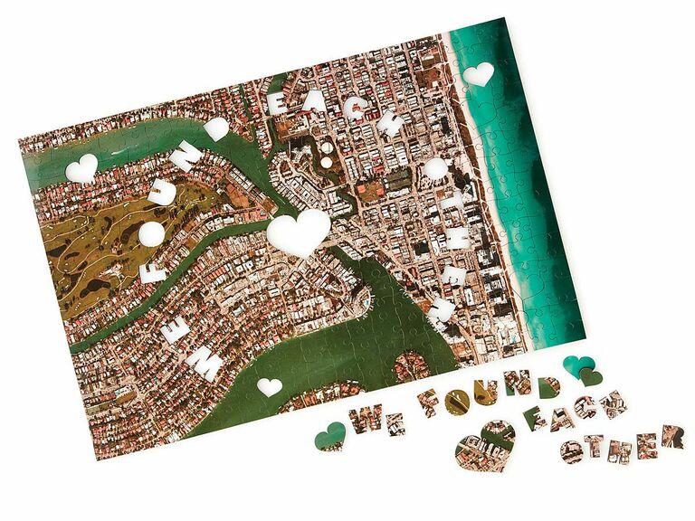 city puzzle anniversary gift