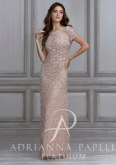 Adrianna Papell Platinum 40104 Scoop Bridesmaid Dress