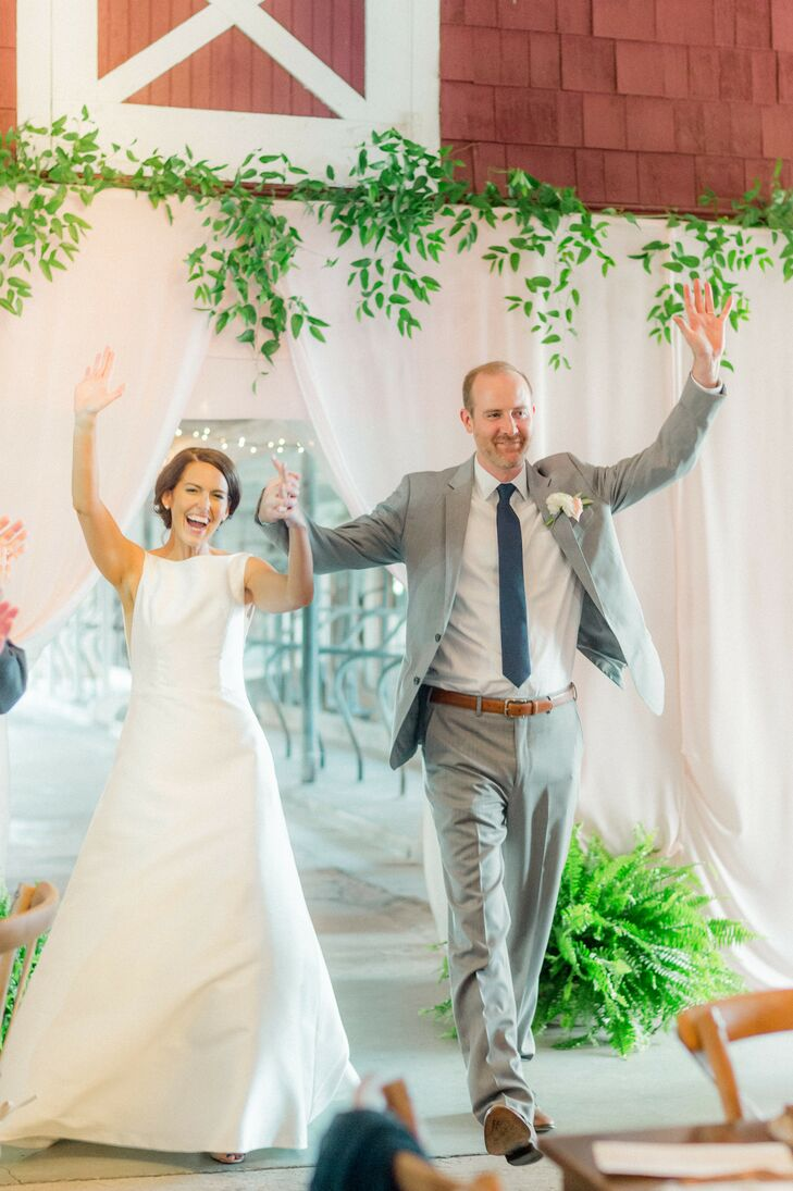 Couple Enters Reception at The Covered Bridge Inn in Lewes, Delaware