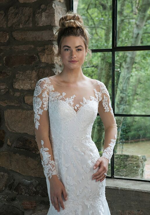 Sincerity Bridal 44057 Sheath Wedding Dress