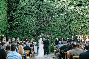 Outdoor Wedding Ceremony at Franciscan Gardens
