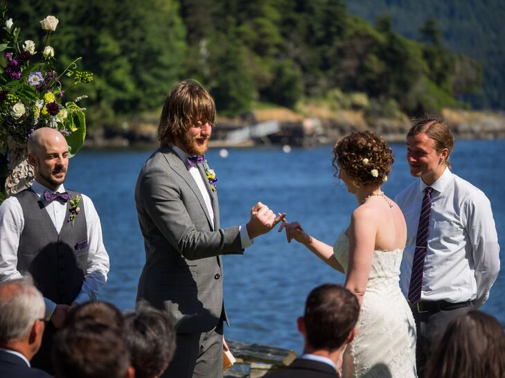 Bride and Groom Pinky Promise Ceremony
