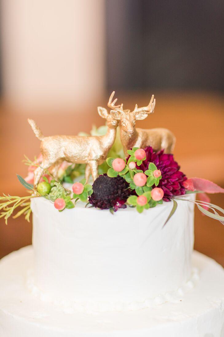 Gilded Deer Cake Topper