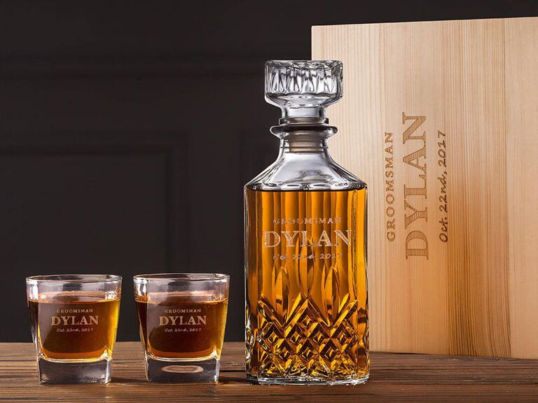 personalized decanter groomsmen gift
