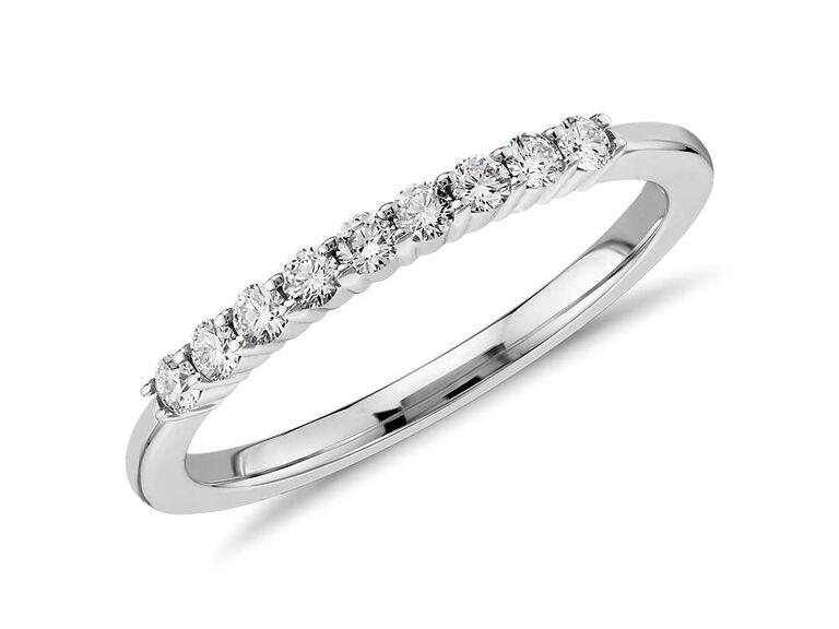 Diamond ring silver anniversary gift