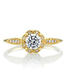 MARS Fine Jewelry Vintage Round Cut Engagement Ring