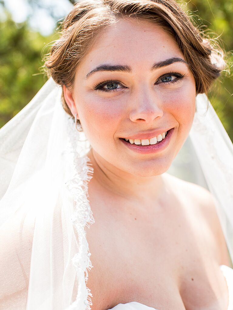 Лучший свадебный макияж для голубых глаз