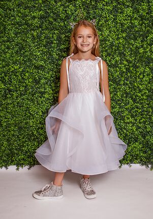 La Petite by Hayley Paige 5825-Lillian Ivory Flower Girl Dress