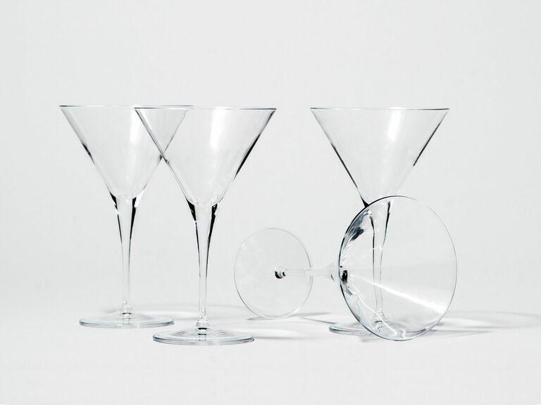 set of martini glasses