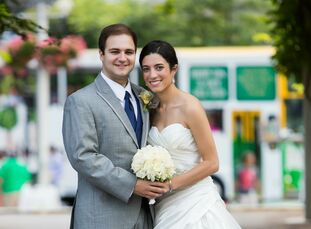 Rob Anastasi, 25, an accountant, married his bride Jennifer Anastasi, 25, a software engineer, in a nautical-themed wedding in Boston, Massachusetts.