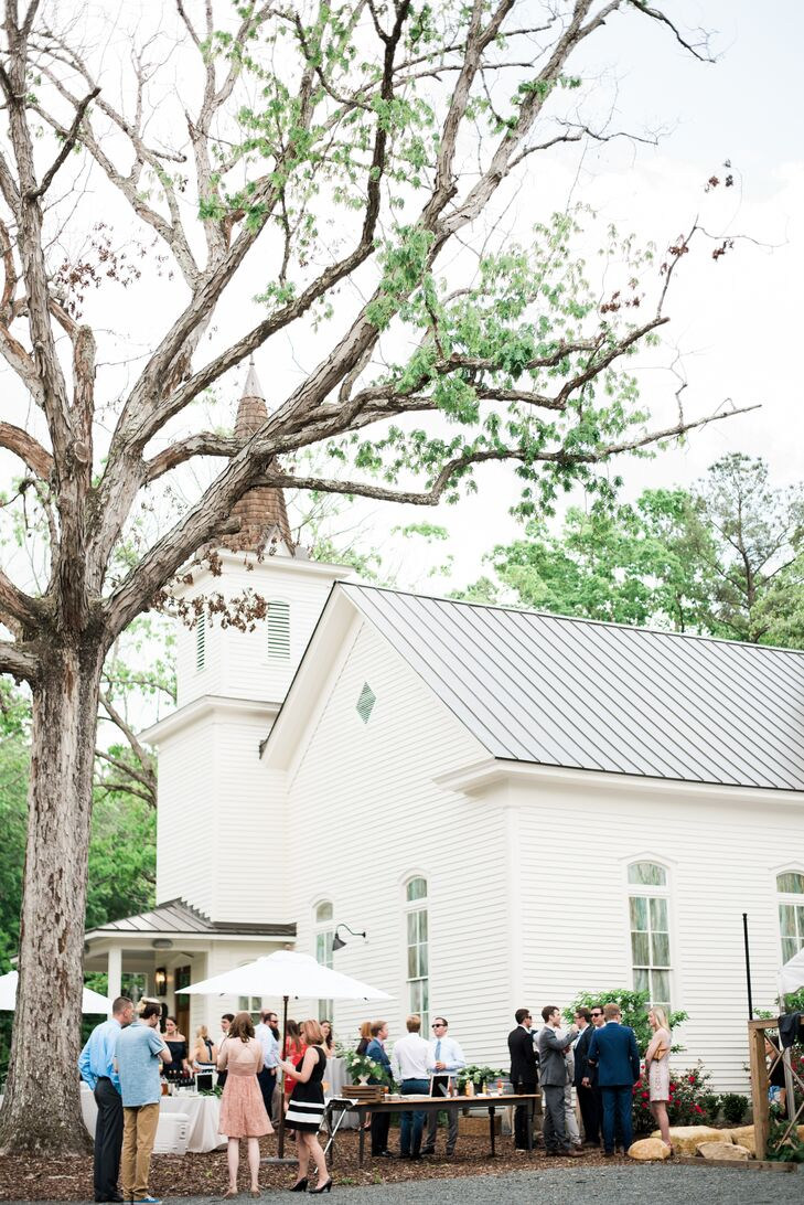 Chapel And Garden Party Themed Wedding