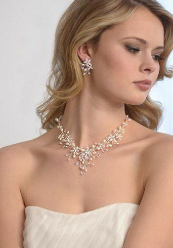 Dareth Colburn Romance Freshwater Pearl Jewelry Set (JS-1625) Wedding Necklaces photo