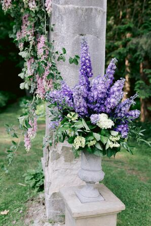 Wisteria Wedding Ceremony Floral Arrangement