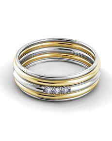 Danhov Classico Round Band Gold White Gold Wedding Ring
