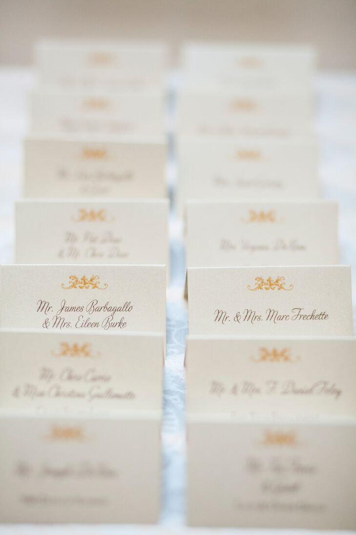 Ivory Tented Escort Cards