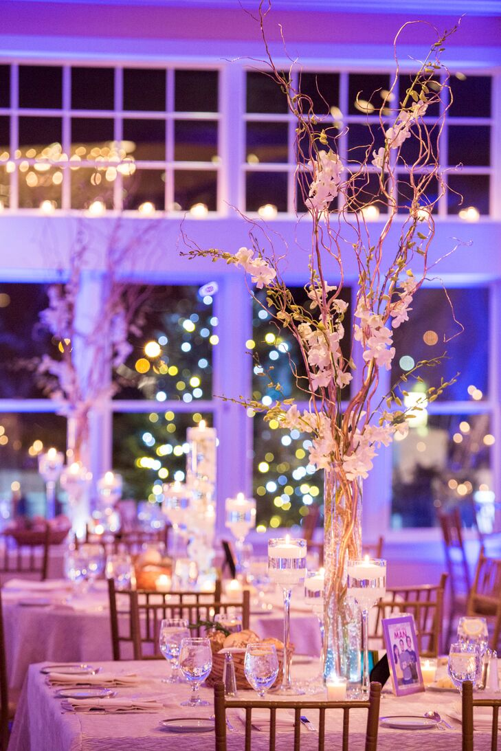 """The room was filled with candles—in each of the windows, on every table, anywhere we could put one!"" says Julie."