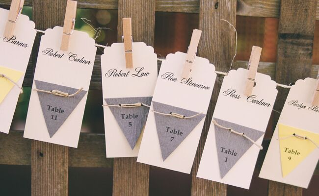 DIY clothespin wedding ideas: TK / TheKnot.com