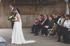 Vintage-, Industrial-Inspired Ceremony