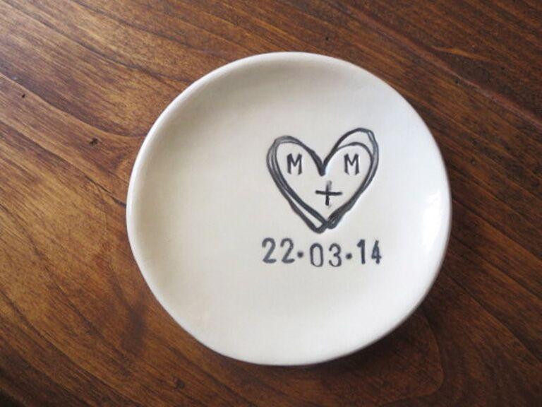 Etsy Custom Ring Dish Engagement Gift Ideas