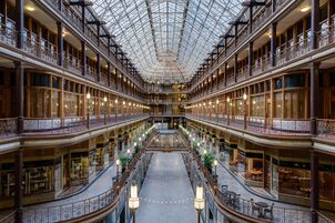 Wedding reception venues in cleveland oh the knot hyatt regency cleveland at the arcade junglespirit Image collections