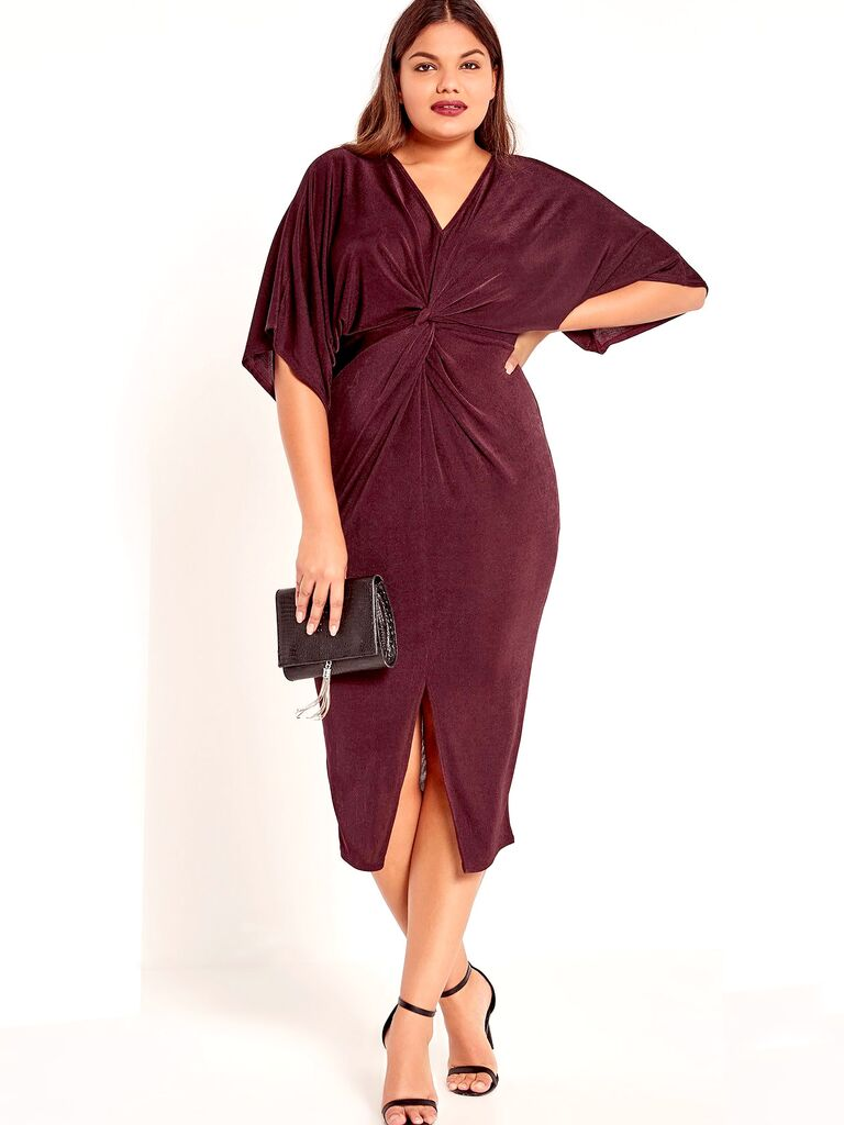 Missguided Plus Size Kimono Midi Dress. Kimono Style Fall Wedding Guest ...