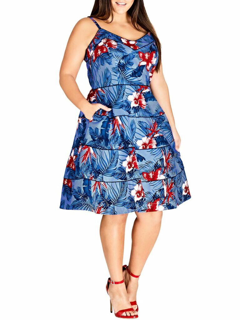 ove hawaii fit & flare dress