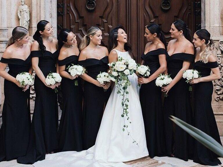 Bridesmaid updo ponytails