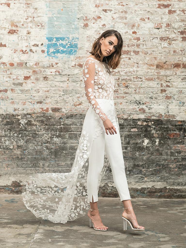 Rime Arodaky White Dress Jumpsuit Rehearsal Dinner Outfit