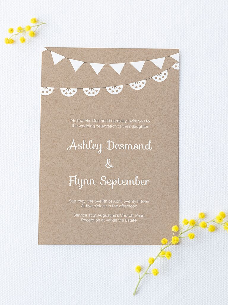 Printable Wedding Invitation Templates You Can DIY - Wedding invitation templates with photo